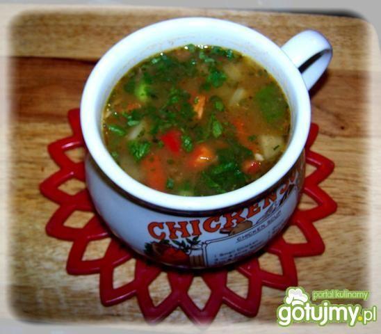 Pikantna zupa paprykowa.