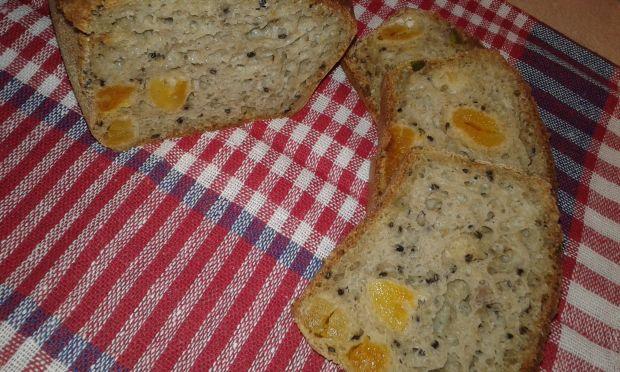 Pistacjowy chlebek na mące chlebowej