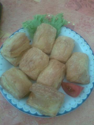 pitakia z serem i szynka