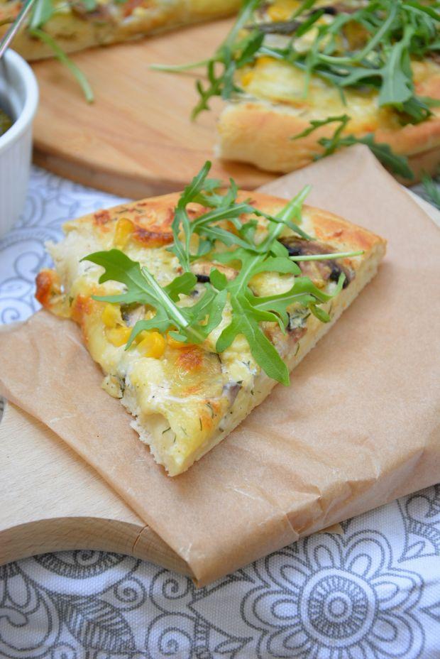 Pizza bianca 4 sery