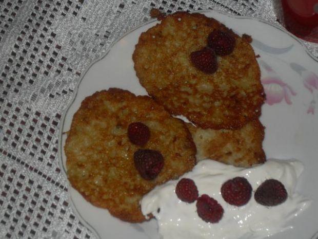 Placki ziemniaczane na słodko z malinami