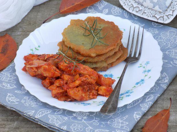 Placki ziemniaczane z filetem z kurczaka