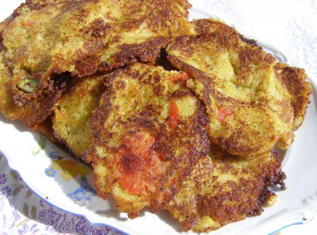 Placki ziemniaczane z papryką,cukinią