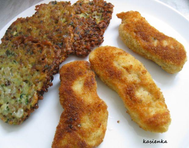 Placki ziemniaczano-gryczane z imbirem i kurczakie
