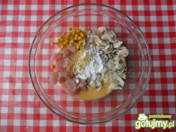 Placuszki z kurczaka z kukurydzą