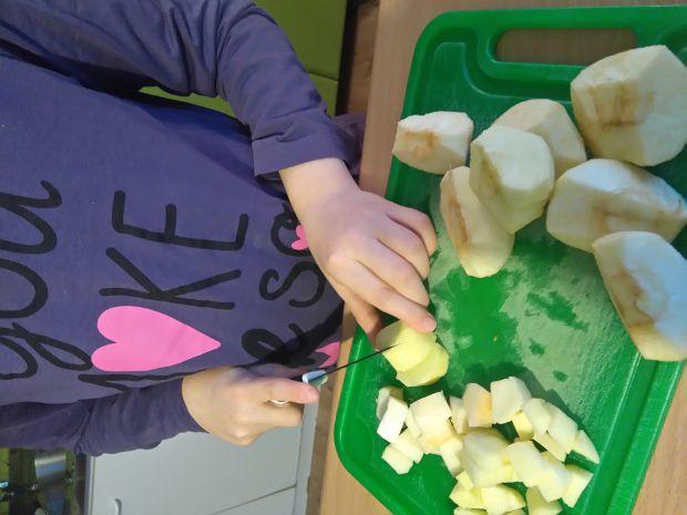 Placuszki z serkiem wiejskim, jabłkiem i żurawiną