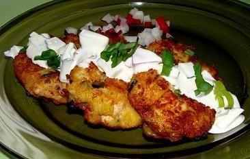 Placuszki ziemniaczane z kurczakiem
