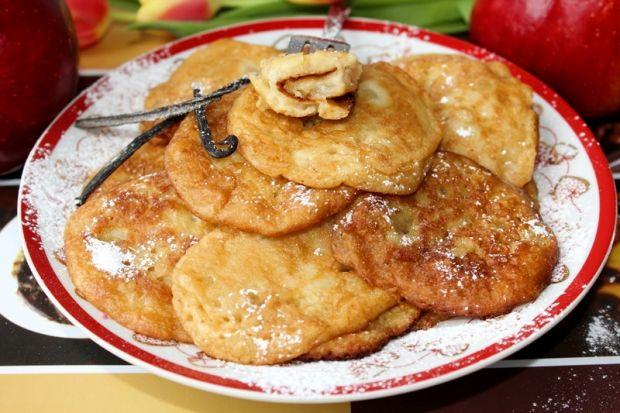 Placuszki/racuszki z prażonymi jabłkami