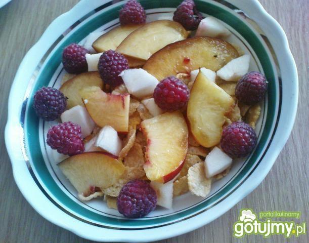 Płatki z owocami