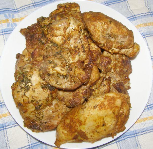 Podudzia kurczaka filety  duszone