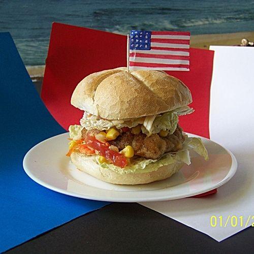 Podwójnie oszukany amerykański hamburger