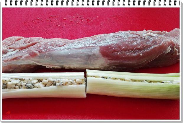 Polędwica Eli faszerowana porem i serem pleśniowym