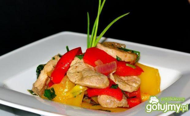 Polędwiczka z warzywami
