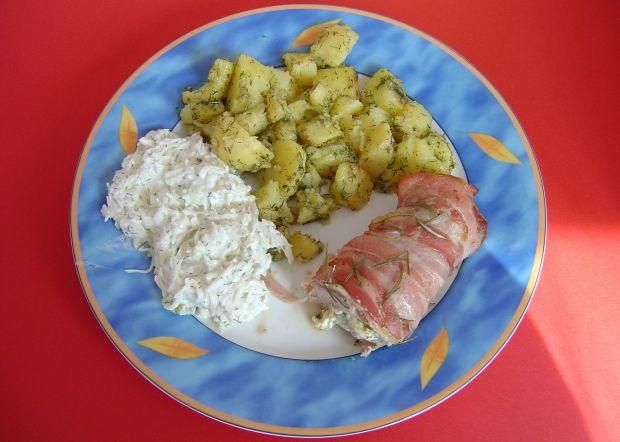 Polędwiczki wieprzowe z serem - owinięte bekonem