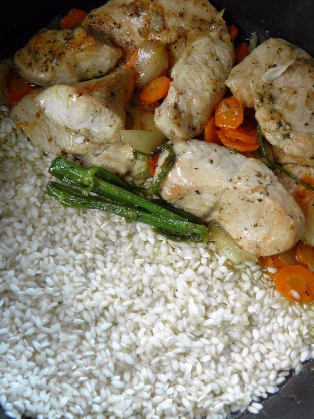 Polędwiczki z indyka (z orzechami i ryżem)