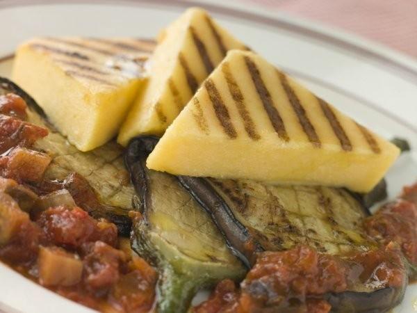 Polenta pieczona na grillu