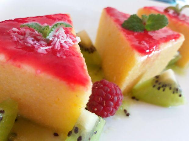 Polenta z owocami
