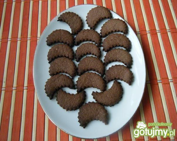 Półkruche ciasteczka kakaowe