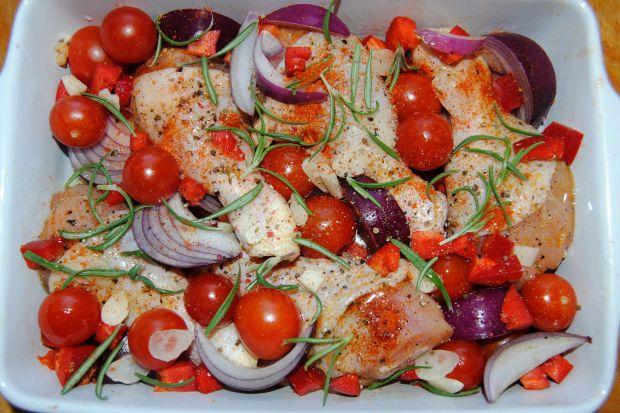 Pomidorowo- paprykowe podudzia