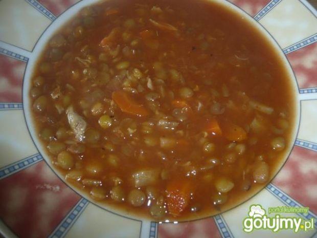 pomidorowy krem z kaszą
