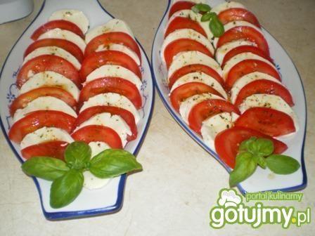 Pomidory z mozarellą.