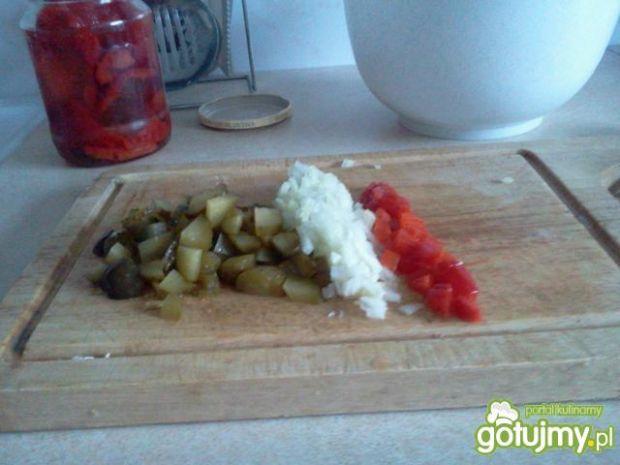 Porosołowa sałatka z wędliną