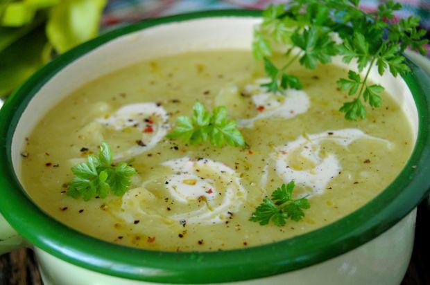Porowo- ziemniaczana zupa krem