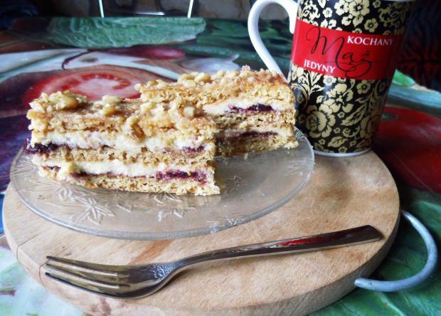 Porzeczkowo- grysikowe ciasto