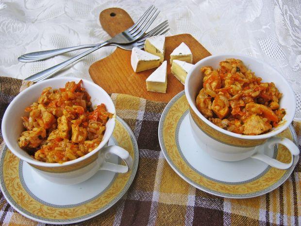 Potrawka marchewkowo-ryżowa z kurczakiem
