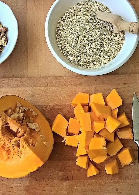 Potrawka z komosy ryżowej i dyni