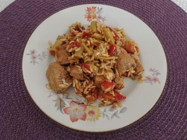 Potrawka z kurczaka z fasolką szparagową