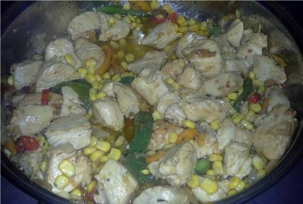Potrawka z kurczaka z kukurydzą