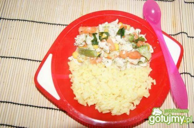 Potrawka z piersi kurczaka i warzyw