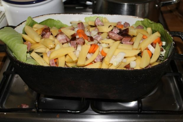 Prażone ziemniaki z kaczką
