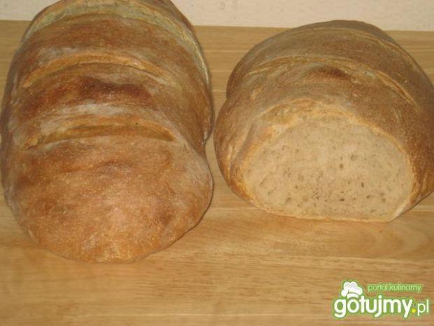 Prosty,pszenno-zytni chleb na zakwasie