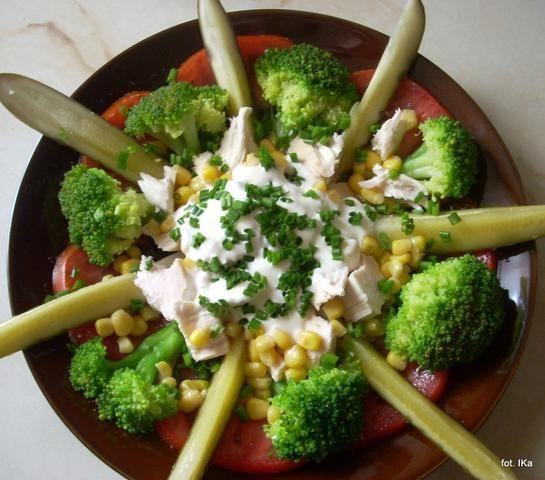 Przekąska z kurczaka i warzyw