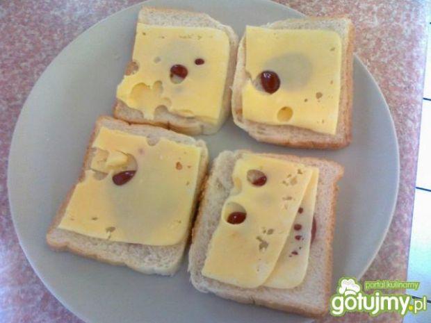 Pszenne tosty z kiszonym ogórkiem