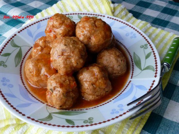 Pulpeciki z indyka w sosie paprykowym