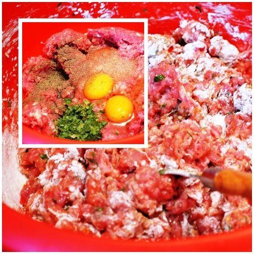 Pulpety z sosem na razowych wstążkach
