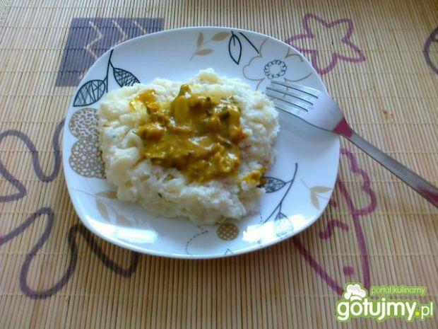 Purre z sosem curry