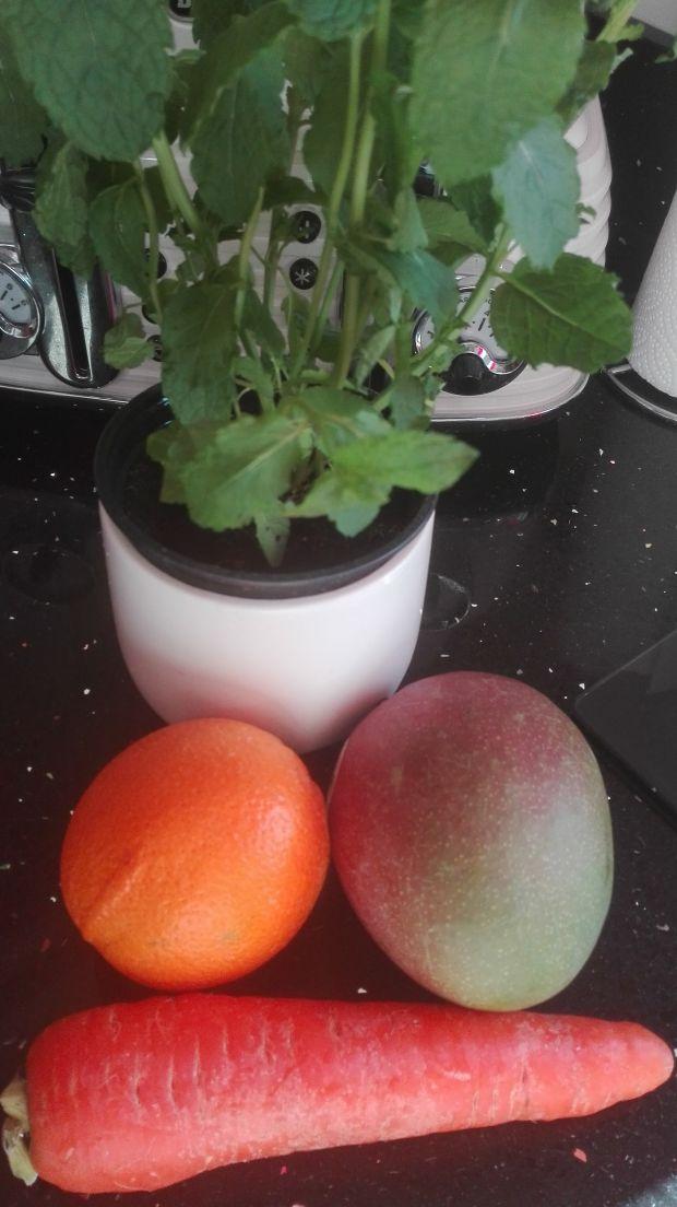Pyszne smoothie z miętowe z mango