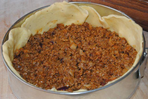 Quiche  mięsno – ziemniaczane
