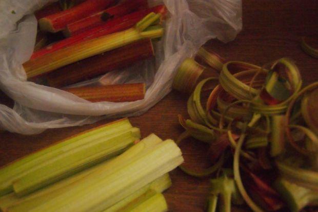 Rabarbarowy kompot z nutką wanilii