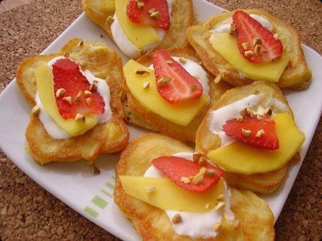 Racuszki serowe z mango.