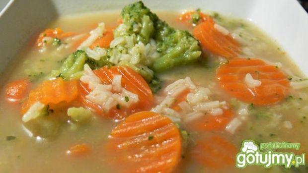 Resztkowa zupa brokułowo-marchewkowa