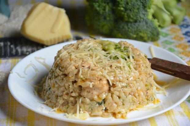 Risotto kokosowe z indykiem i brokułem