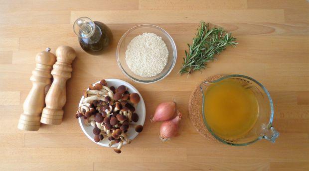 Risotto z grzybami i rozmarynem