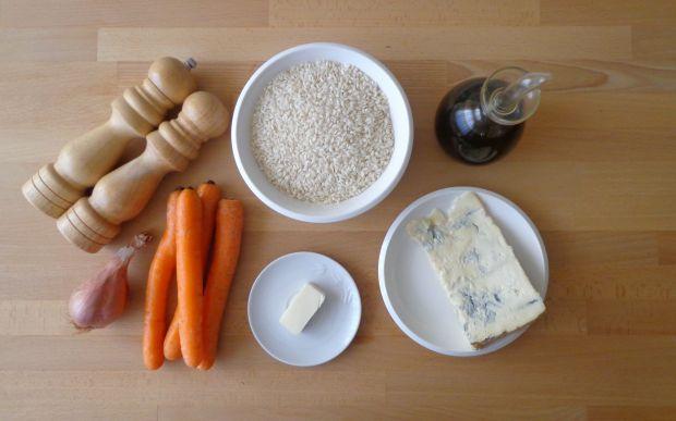 Risotto z kremem marchewkowym z gorgonzolą