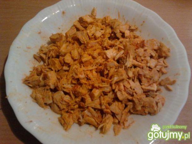Risotto z kurczakiem, kukurydzą na złoto