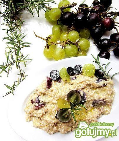 Risotto z winogronami